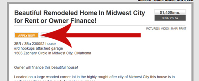 Miller Home Solutions - Apply to Rent Step 2